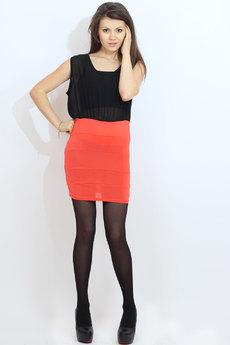Короткое платье с черной юбкой Kokette со скидкой